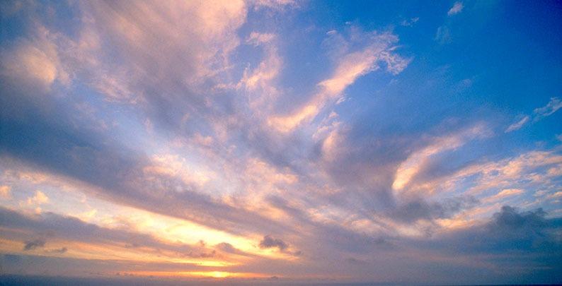 Sonnenuntergang – Luftbestattung in Bochum
