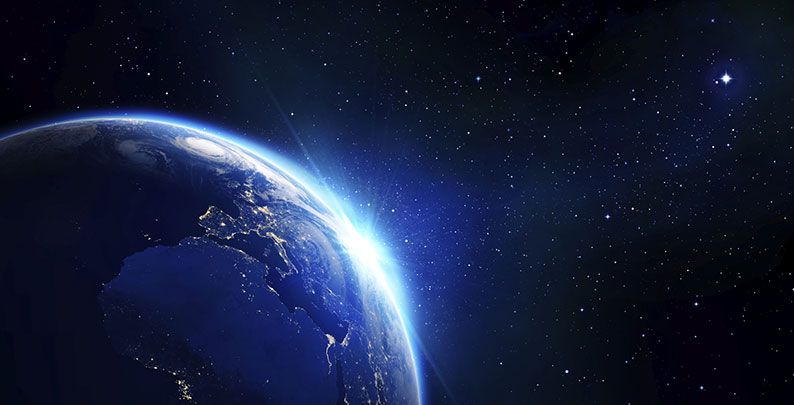 Erde und Weltraum – Weltraumbestattung in Bochum